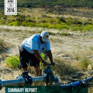 Report cover showing a man working on pipes